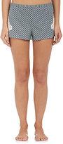 LFrank by Liseanne Frankfurt Women's Striped Shorts-GREEN