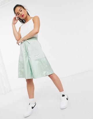 Nike Tonal Swoosh white crop Singlet top