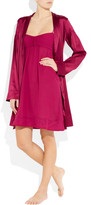 Burberry Stretch-silk satin robe