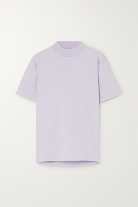 LES TIEN Cotton-jersey T-shirt - Purple