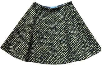 Prada Green Wool Skirt for Women