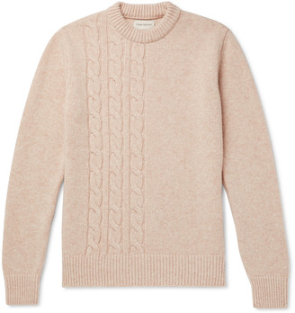 Oliver Spencer Blenheim Cable-Knit Wool Sweater