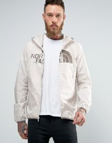The North Face Logo Hooded Jacket Drew Peak Windwall In Off White