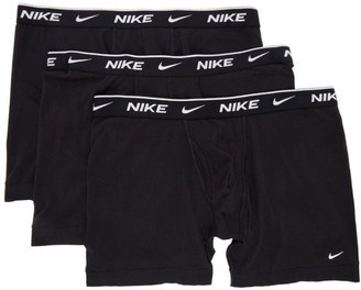 Nike Three-Pack Black Cotton Everyday Boxer Briefs