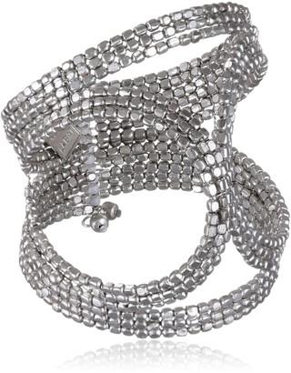 Marc Labat 14E8Indi-Chic Women's Cuff BraceletSilver Plated18cm