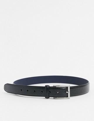 Ben Sherman pattern belt in black