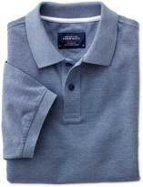 Charles Tyrwhitt Classic fit blue Oxford polo