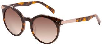 Balmain 51mm Brow Bar Round Sunglasses
