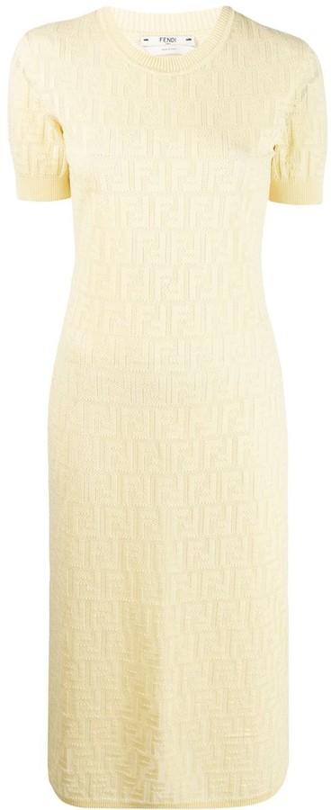 Fendi monogram knitted dress