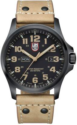 Luminox Men's Atacama Field Day Brown Leather Watch