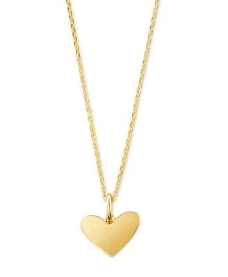 Kendra Scott Ari Heart Charm Necklace In Sterling Silver