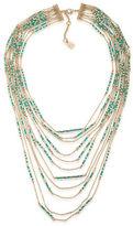 Lauren Ralph Lauren Dream Weaver 10K Gold-Plated Statement Multi-Row Necklace