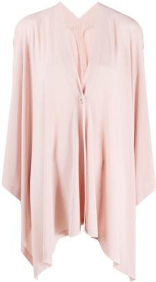 Issey Miyake Asymmetric Fine-Knit Cardigan