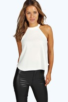 boohoo Petite Eva High Neck Cami Top