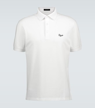 Ermenegildo Zegna Logo cotton pique polo shirt