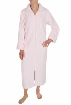 Miss Elaine Plus Size Sculptured Fleece Long Zipper Robe