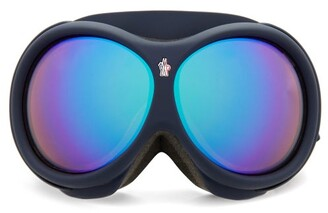 Moncler Logo-jacquard Strap Ski Goggles - Blue