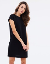 Mng Capped Shift Dress