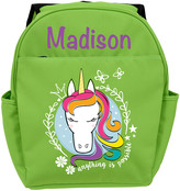 Personalized Planet Backpacks - Green Unicorn Personalized Backpack