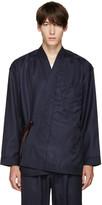 Umit Benan Navy Pinstripe Kimono Jacket