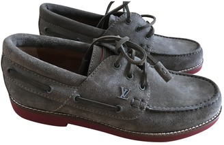 Louis Vuitton Anthracite Suede Lace ups