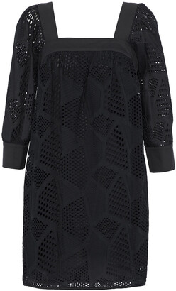 Milly Broderie Anglaise Cotton Mini Dress