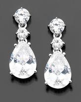 Sterling Silver Cubic Zirconia Teardrop Earrings (10-1/6 ct. t.w.)