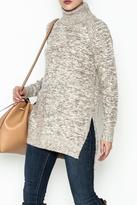 Solemio Cream Turtleneck Sweater
