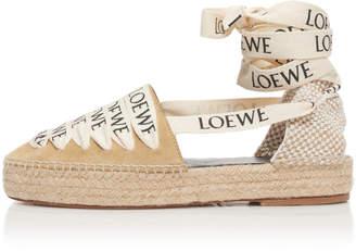 Loewe Suede Platform Espadrille Sandals