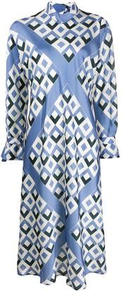 Jejia Geometric Print Midi Dress
