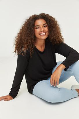 Ardene Plus Size Sweater with Lace Yoke
