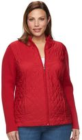 Croft & Barrow Plus Size Quilted Sweater Jacket