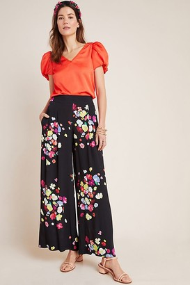 Anthropologie x Delpozo Floral-Print Trousers