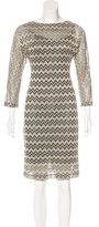 M Missoni Metallic Patterned Dress