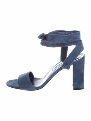 Manolo Blahnik Suede Wrap-Around Sandals