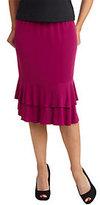 George Simonton Milky Knit Tiered Flounce Skirt