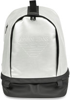Armani Jeans Logo-embossed Metallic Backpack