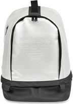 Armani Jeans Logo-embossed Metallic Backpack