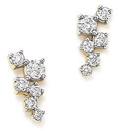 Adina 14K Yellow Gold Scattered Diamond Stud Earrings