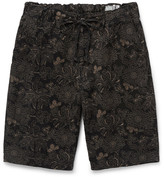 orSlow New Yorker Printed Cotton and Linen-Blend Shorts