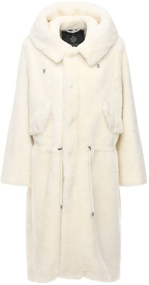 Mr & Mrs Italy Hooded Long Fur Coat