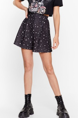 Nasty Gal Womens Outer Space High-Waisted Star Shorts - Black