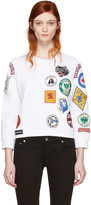 White Multi Patches Pullover