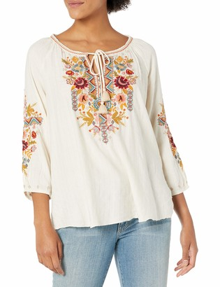 3J Workshop by Johnny was Women's Peasant Blouse with Embroidery on Front and Sleeve