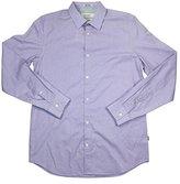 Calvin Klein Men's Liquid Cotton Chambray Long Sleeve Woven Shirt