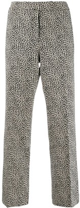 MICHAEL Michael Kors Cropped Leopard Print Trousers