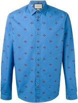 Gucci bee print shirt - men - Cotton - 39