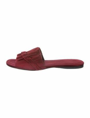 The Row Ellen Satin Slide Sandals