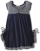 Luna Luna Copenhagen Regatta Dress (Little Kids/Big Kids) (Navy) - Apparel