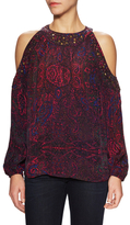 Plenty by Tracy Reese Print Embellished Blouse
